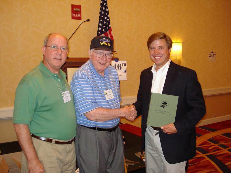 Tim Higgins, Jack Higgins, and author Todd Depastino