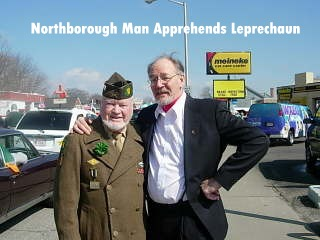 (L) - John E. McAuliffe (MAC)<br /> (R) - Mal Grant, an Associate member of the Cent. Mass. Chapt-22 VBOB.<br /> He is a retired school teacher and much interested in Military History.<br /> His Dad served with the 5th Armored Division in WW-II in Europe.