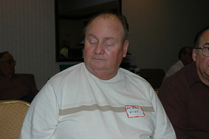 Jack Gaterba 61-63, not really napping, just checking his eyelids for holes.