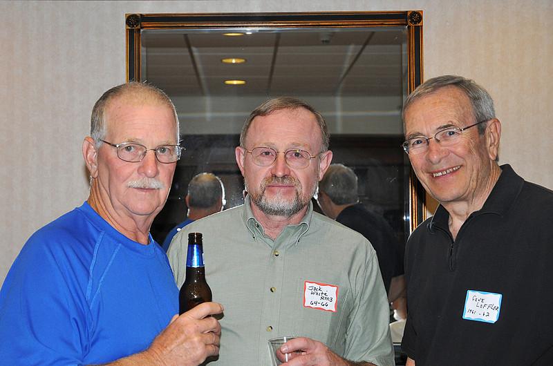 L-R Ed Wierback 55-57, Jack White 64-66, Harry Leffler 61-62