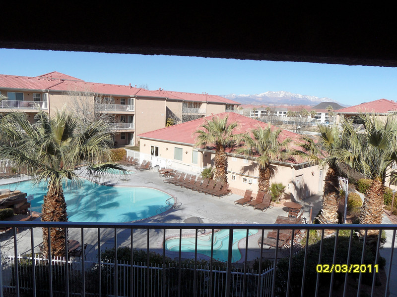 Pool & spa view from our patio.  We're in the phase-1 section.