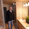 Rick checking out the master bathroom