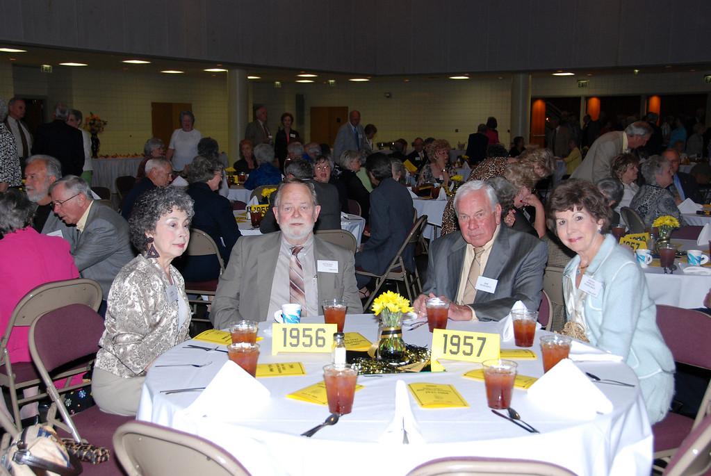 Sandra Clayton, Kenneth Clayton (56), Bob Hazelrigs and JoAnn Hodges Hazelrigs (57)