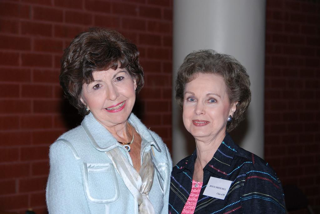Jo Ann Hodges Hazelrigs (57) and Joyce Lee Smith Hill (59)