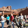 Arches National Park visitors center at the entrance.