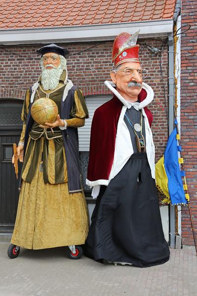 04/08/2012 - Receptie ter ere van de eerste officiële ontmoeting tussen de reuzen Keizer Karel I en Mercator