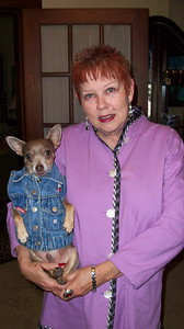 Rev. Diannia Baty and Hector in his favorite blue jeans jacket