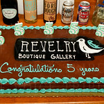 Revelry Boutique Gallery 5 Year Anniversary Cake.