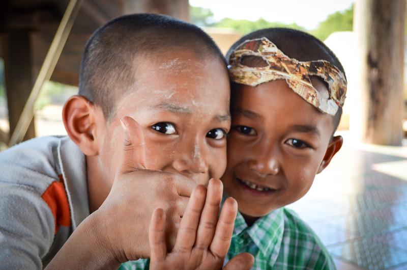 Children in Bagan, Burma