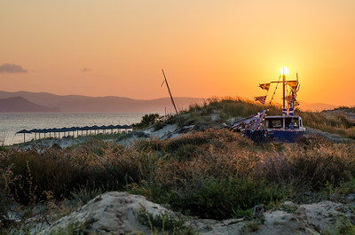 Sunset on Plaka Beach, Naxos