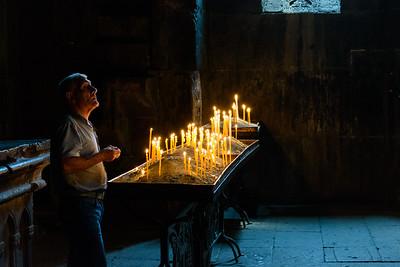 Man at Geghard Monastery