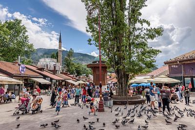 Bascarsija square, Sarajevo, Bosnia