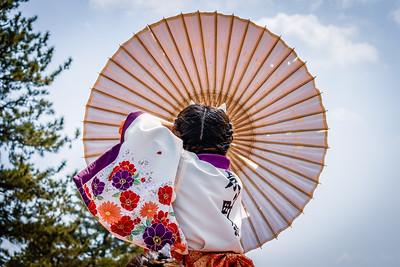 Girl with Umbrella, Kyoto