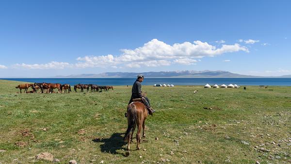 Yurt camp, Song Kul, Kyrgyzstan