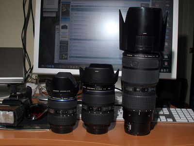 12-60, 14-35, and 35-100mm Comparision shot.