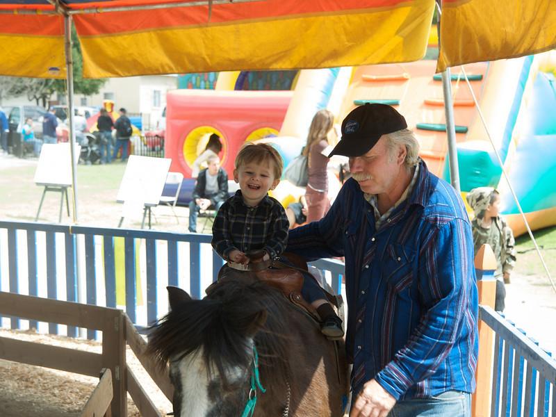 Fillmore Train Festival,  Cody's horse ride