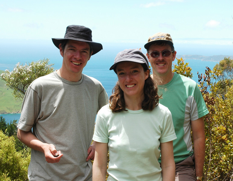 January: Dave, Jane and Alistair in the Marlborough Sounds