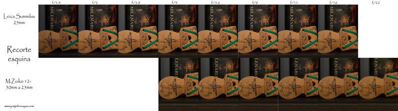 Leica 25mm vs M.Zuiko 12-50mm a 25mm - Recorte en el centrowww.jorgebenayas.com