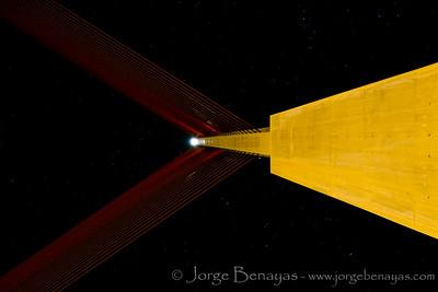 Nocturna en el puente atirantado (V)