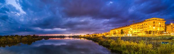 Hora azul en el río Tajo