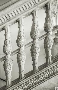 Escalera del museo de Santa Cruz