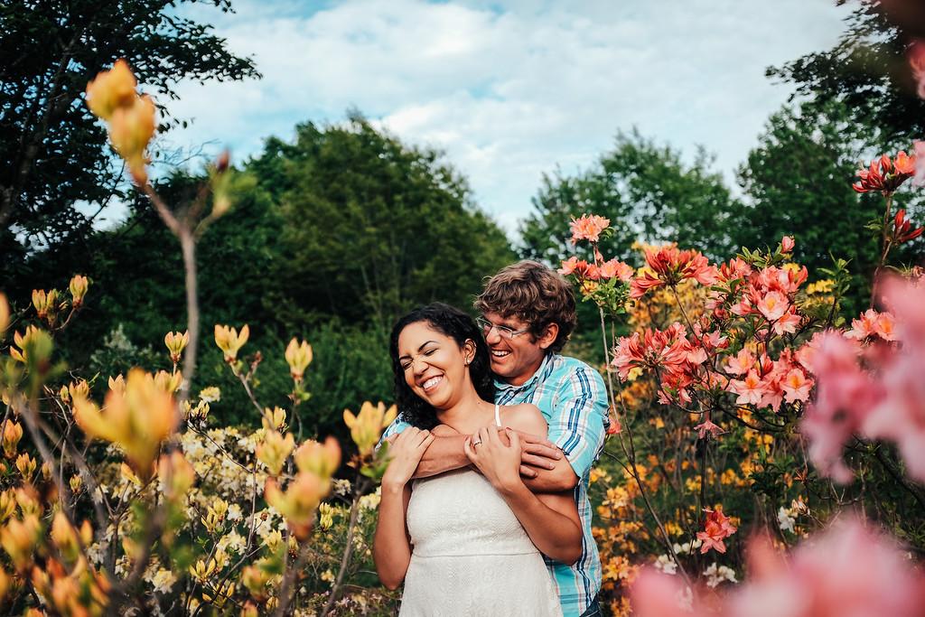 Liz & Mike | Engagement session at UW Madison Arboretum