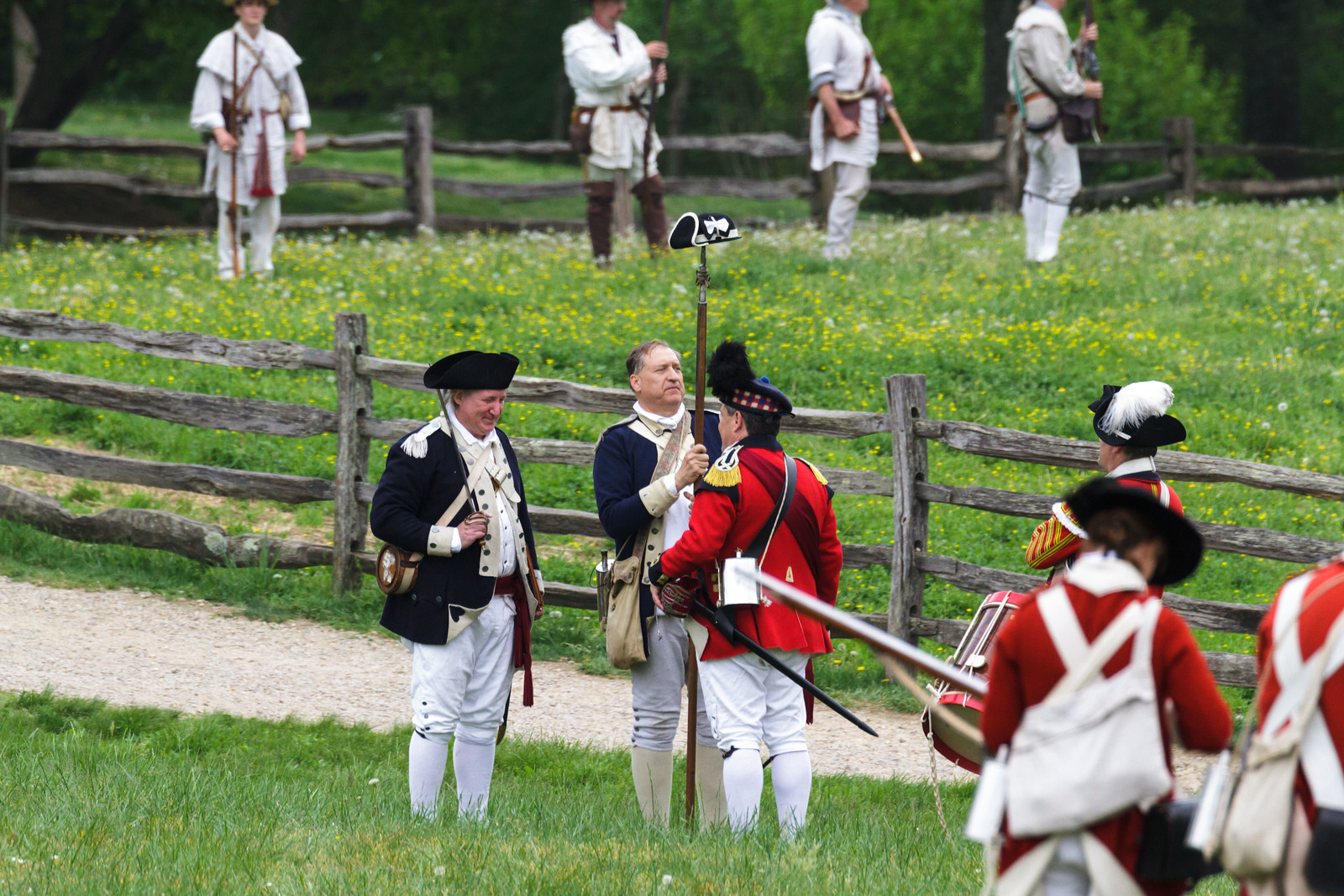 Field commanders negotiating terms to end the skirmish.