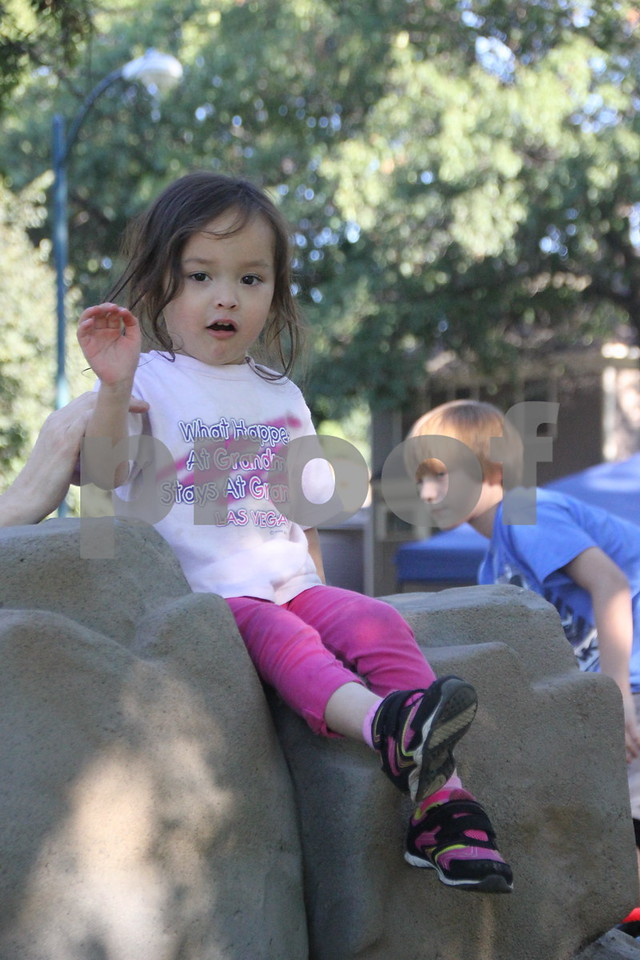 Seen here is: Madison Le enjoying the new  playground equipment that was put in at Reynold's Park in Fort Dodge. Reynold's Park had a ribbon cutting ceremony and celebration for the new playground equipment that was installed, and took place on Thursday, August 20, 2015 at the park.