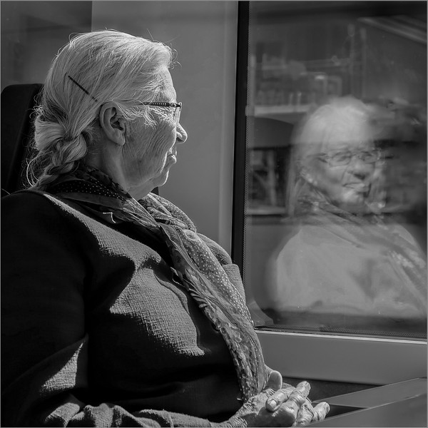 Lady on the Train (to Interlaken)