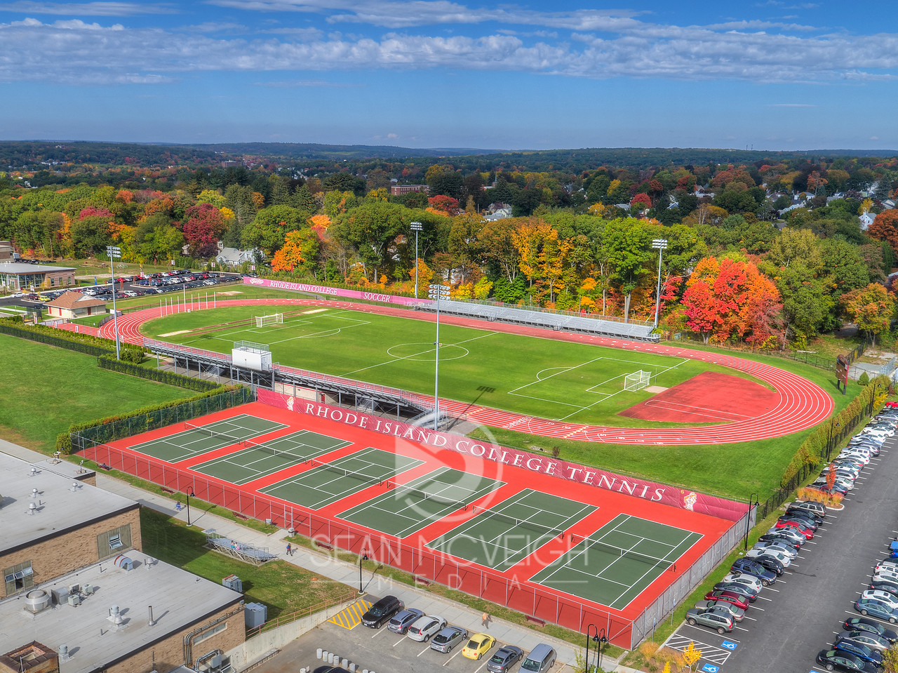Drone Aerial of Rhode Island College by Sean McVeigh Media