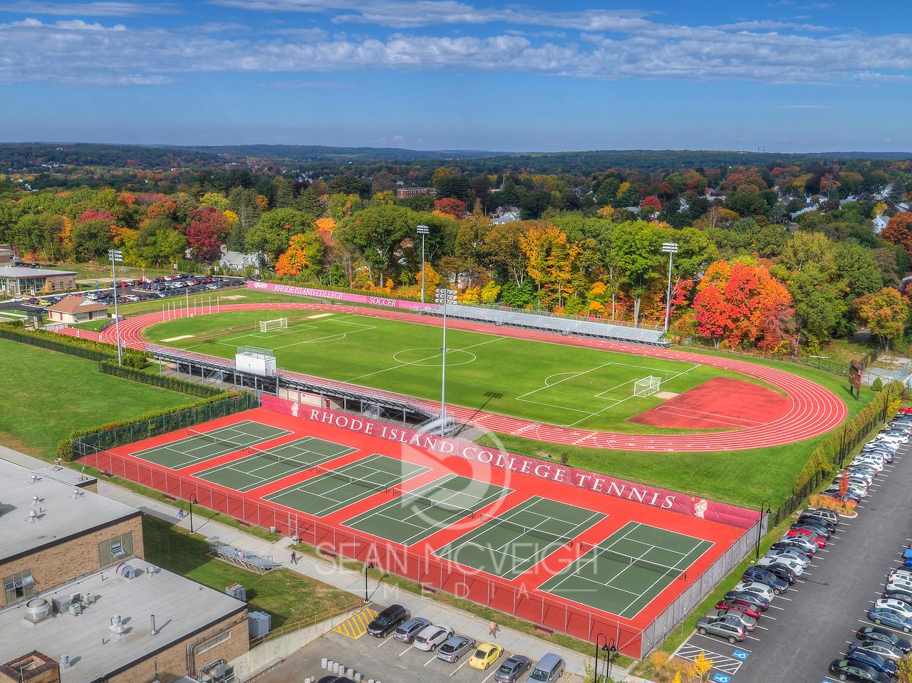 Drone Aerial of Rhode Island College by Sean McVeigh Media