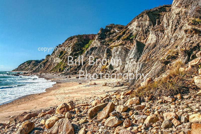 Rugged Coastline at Mohegan Cliffs