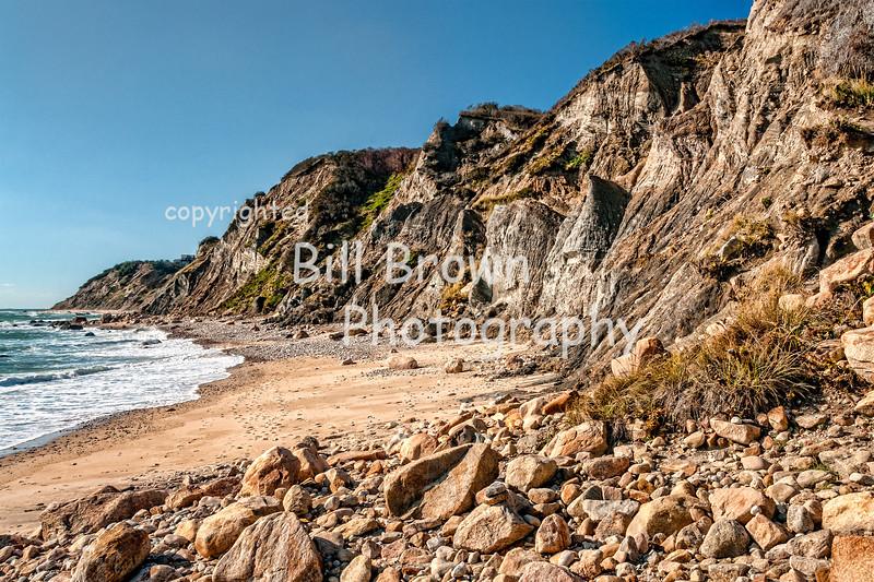 Cliffs along Block Island Shoreline