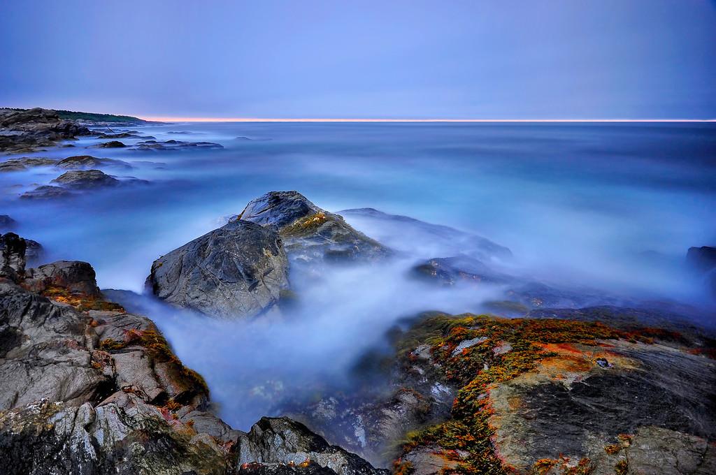 Blue Color of Atlantic Ocean, Jamestown, Rhode Island.