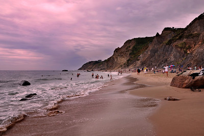 Mohegan Bluffs Beach, Block Island, RI.