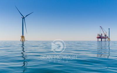 Drone Aerial of the Block Island Wind Turbines in RHode Island by Sean McVeigh Media
