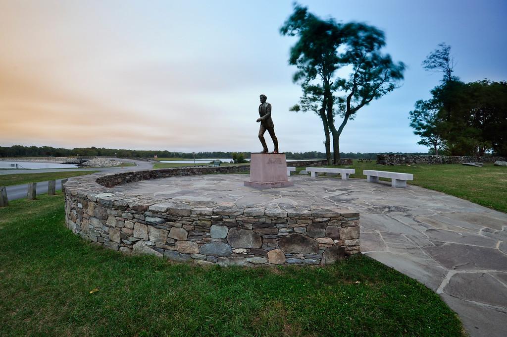 John H. Chafee Memorial Statue at Colt State Park