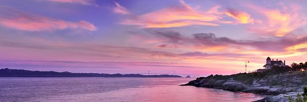 Panoramic Sunrise in Newport, Rhode Island