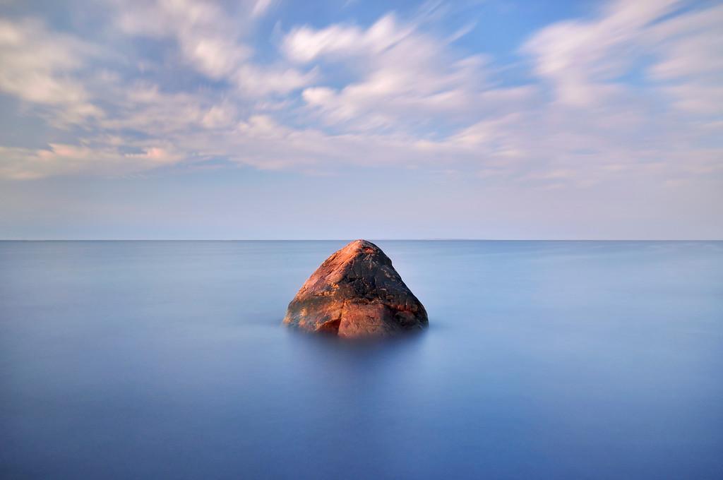 Rock Long Exposure, Narragansett beach, RI