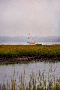 Boat in Marsh, Emilie Ruecker Wildlife Refuge