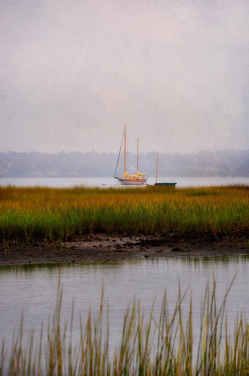 Boat in Marsh, Emilie Ruecker Wildlife Refuge