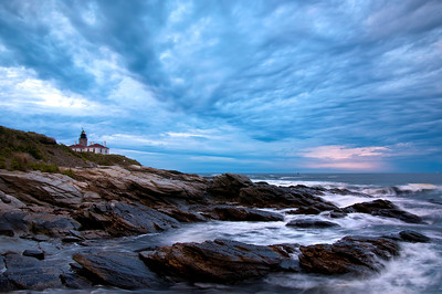 Beavertail Light House Before Sunrise.
