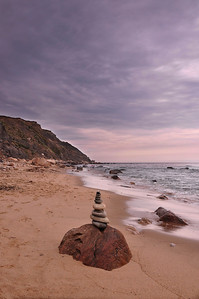 Stone Tower on the beach, Block Island.