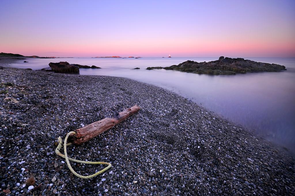 Driftwood On Sakonnet Point Beach At Sunrise