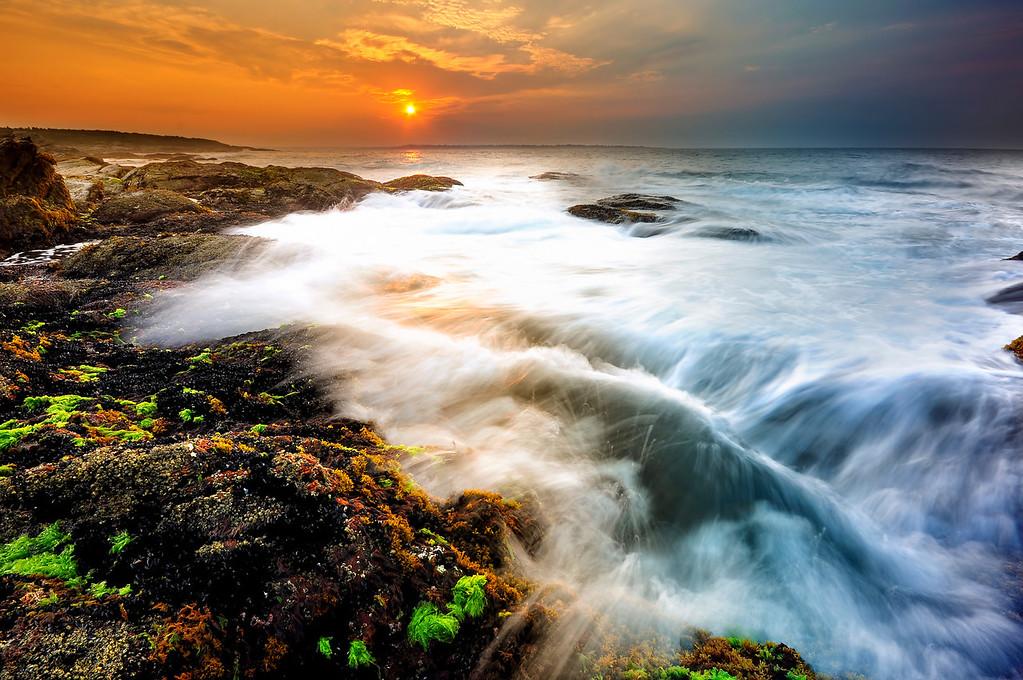 Sunrise and the Ocean, Newport, RI.
