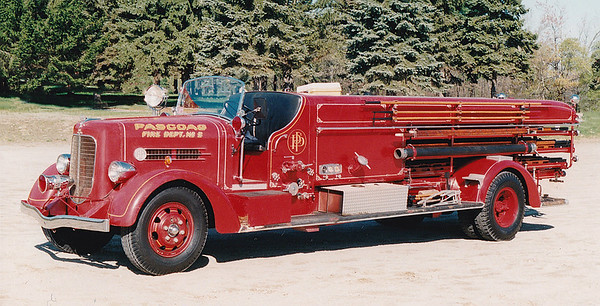 Retired. Ladder 2.  1939 Ahrens Fox