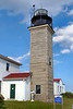 The lighthouse, originally known as the Newport Light, was the third lighthouse to be constructed in what would become the United States after Boston Light and Brant Point, Nantucket.  The 69 foot wooden tower lasted only 4 years until it was destroyed by a fire.