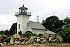 The navigational light was removed from the lantern and placed in an acetylene light atop a 30 foot skeleton tower.  The lantern was removed from the lighthouse in 1928.