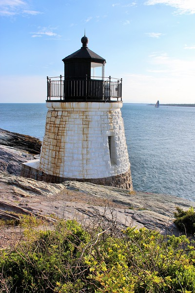 On May 1 Keeper Frank Parmele lit the lantern's 5th Order Fresnel lens which exhibited a flashing red characteristic.