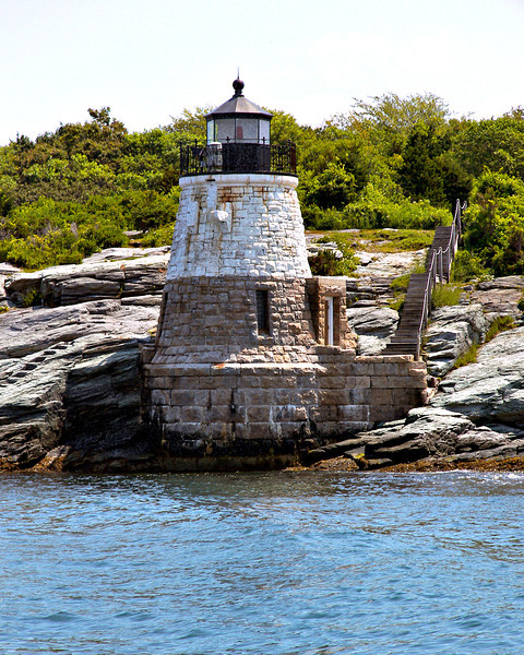 Aquidneck Island was home to the town of Newport, the summer retreat for millionaires.  One of these millionaires owned the land coveted by the Light House Board at Castle Hill.